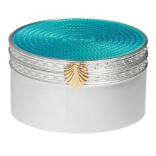 Wedgwood Treasures with love aqua seashell treasure box
