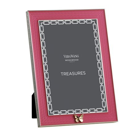Wedgwood Treasures with love pink butterfly frame 4x6