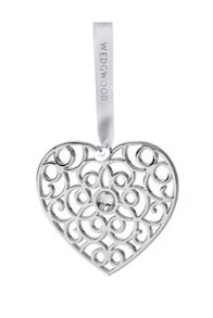 `Filligree Heart` Silver-Plated Tree Decoration