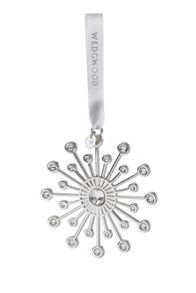 `Christmas Star` Silver-Plated Tree Decoration