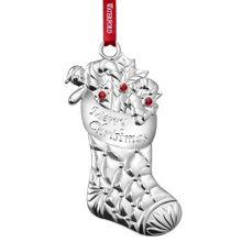 Christmas Stocking Silver Ornament