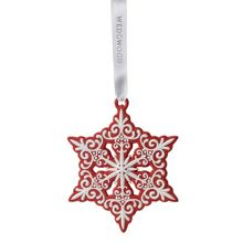 `Pierced Snowflake` Red Tree Decoration