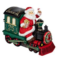 Wedgwood Marquis Santa with Train Cookie Jar