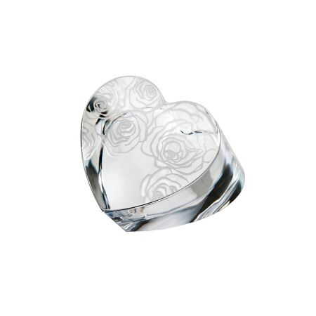 Waterford Sunday rose heart paperweight