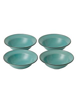 Gordon Ramsay Teal Blue Small Bowls (x4)