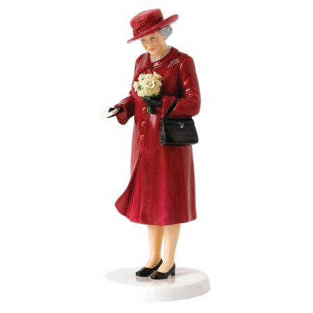 Royal Doulton Queen at 90 Birthday Celebration 22cm