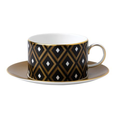 Wedgwood Arris Teacup And Saucer Geometric