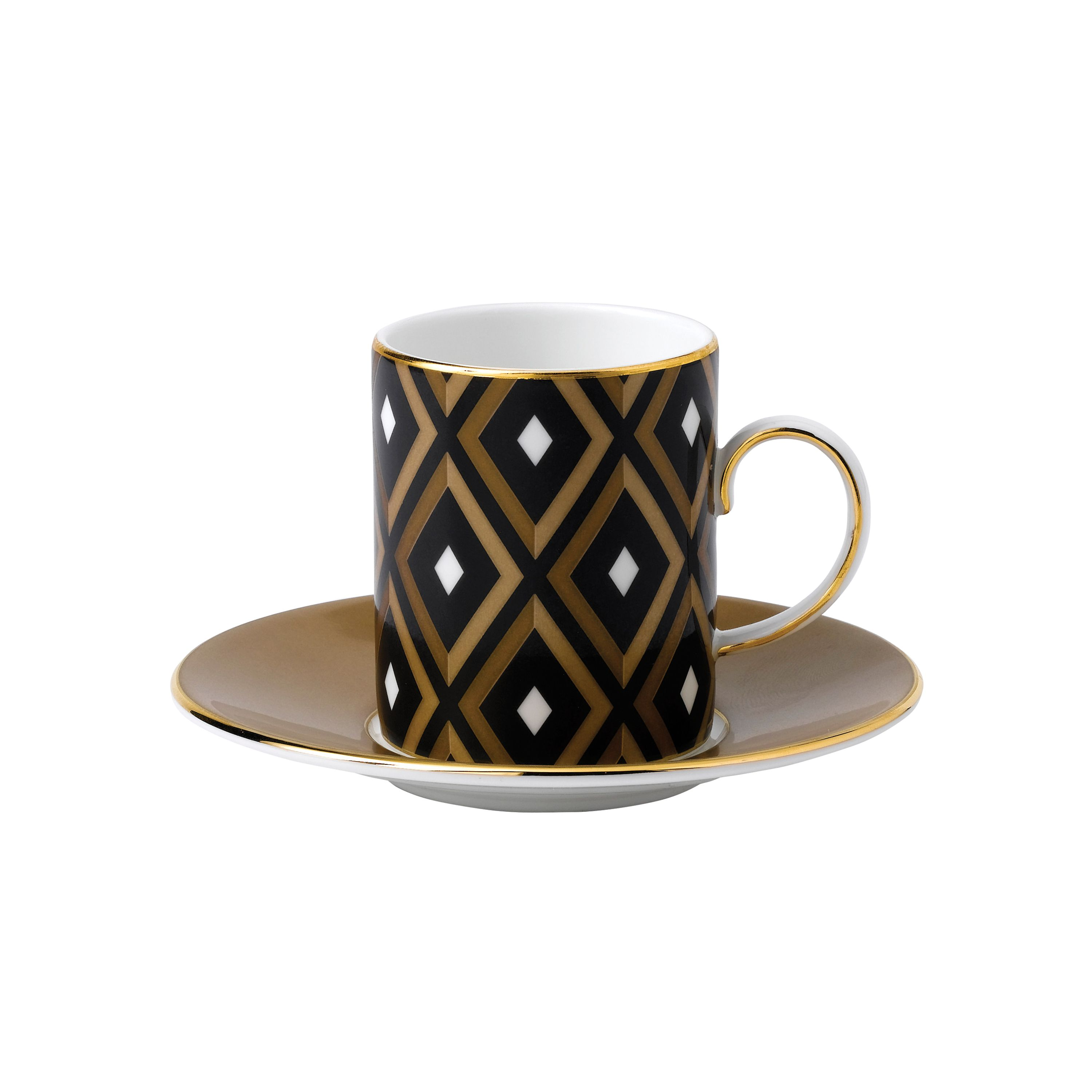 Image of Wedgwood Arris Espresso Cup & Saucer (Geo/Honey)
