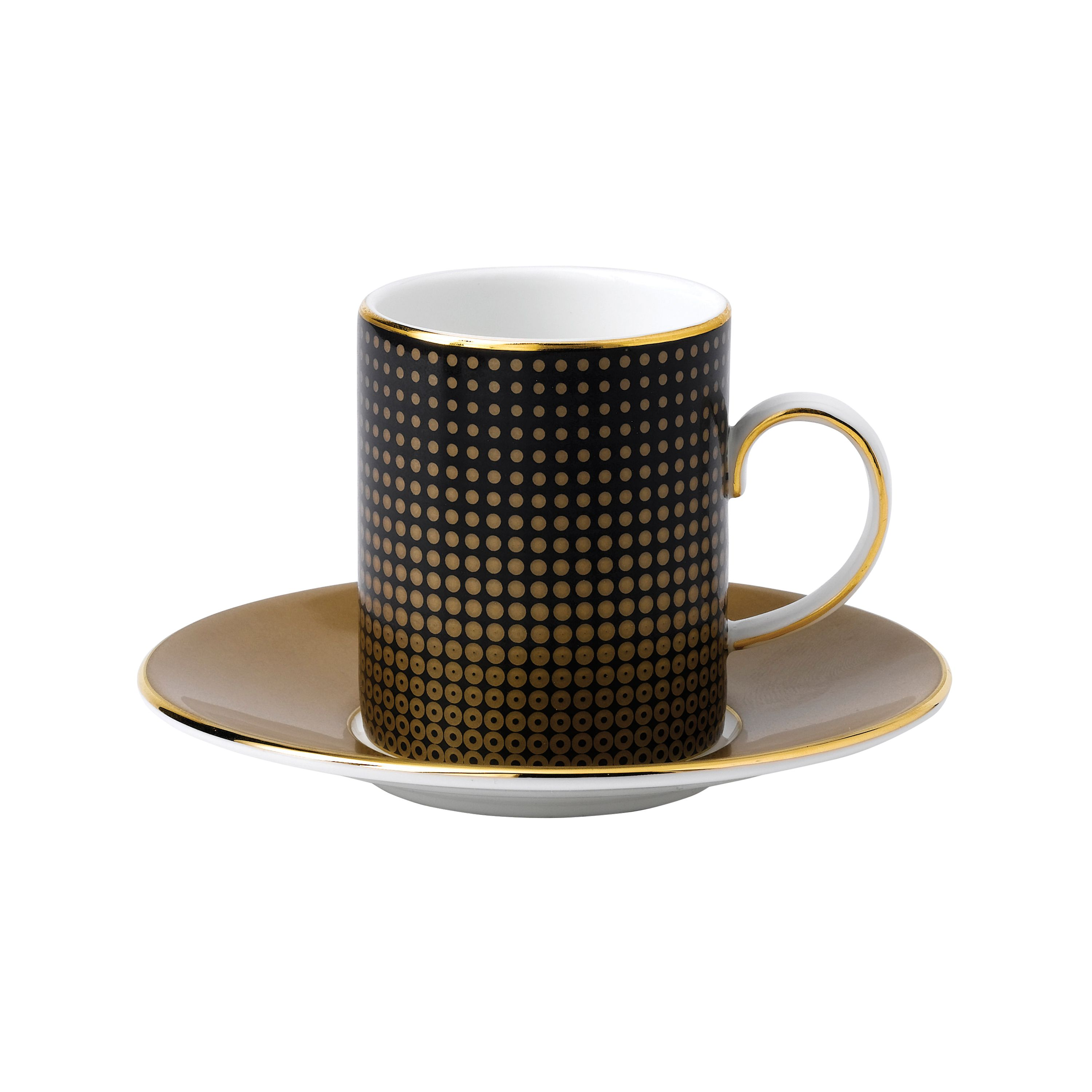 Image of Wedgwood Arris Espresso Cup & Saucer (Sphere/Crack)