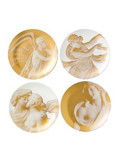 Gilded muse coupe plates 17cm, set of 4