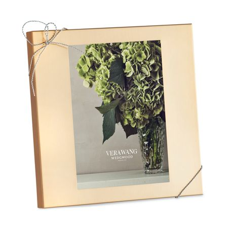 Wedgwood Vera Wang Love Knots Gold Photo Frame 5x7in
