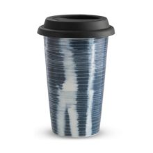 Vera Wang Print Stripe Travel Mug 12oz