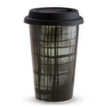 Vera Wang Print Plaid Travel Mug 12oz