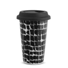 Vera Wang Print Leopard Travel Mug 12oz