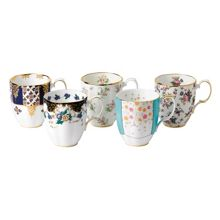 Royal Albert 100 years 5 piece set of mugs (1900-1940)