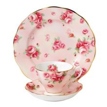 Royal Albert 100 years 1980 rose blush 3 piece set