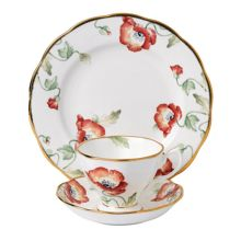 Royal Albert 100 years 1970 poppy 3 piece set