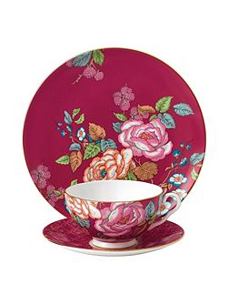 Tea garden raspberry 3-piece set