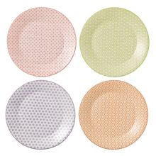 Royal Doulton Pastels accent plates 23cm - set of 4
