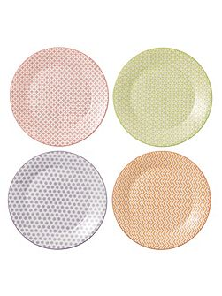 Pastels accent plates 23cm - set of 4