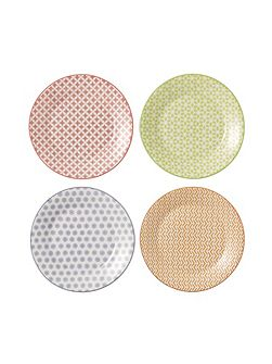 Pastels accent plates 16cm - set of 4