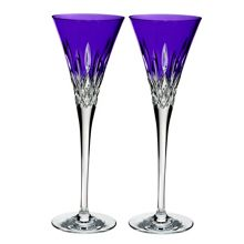 Waterford Lismore Pops Purple Toasting Flute (x2)