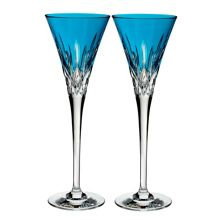 Waterford Lismore Pops Aqua Toasting Flute (x2)