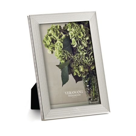 Wedgwood Vera wang with love nouveau silver photo frame 4x