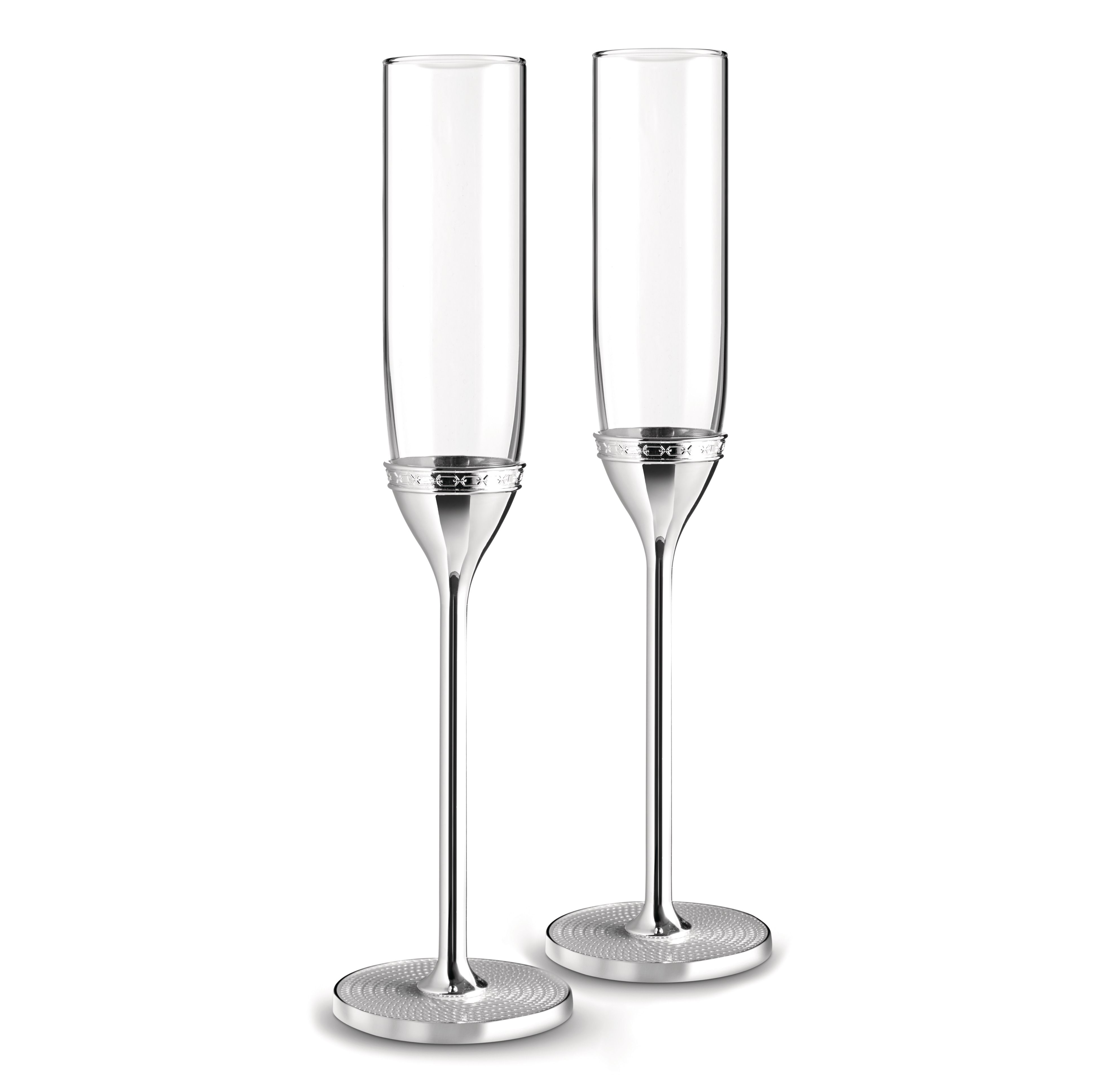 Wedgwood Vera Wang With Love Nouveau Toasting Flute Silver All These Deals