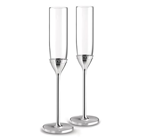 Wedgwood Vera wang with love nouveau toasting flute silver