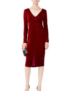 MAIOCCI Collection Long Sleeve V-Neck Dress