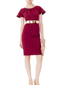 MAIOCCI Collection Short Sleeve Back Zip Dress