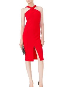 MAIOCCI Collection Bodycon Halter Neck Dress