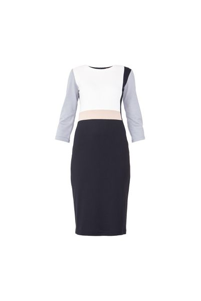 MAIOCCI Collection Quarter Sleeve Block Dress