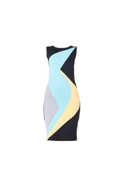 MAIOCCI Collection Sleeveless Geometrical Dress
