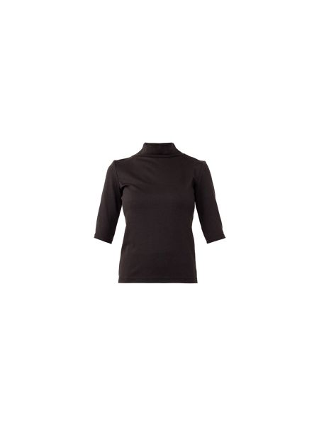 MAIOCCI Collection Elbow-length Sleeve Funnel Neck Top