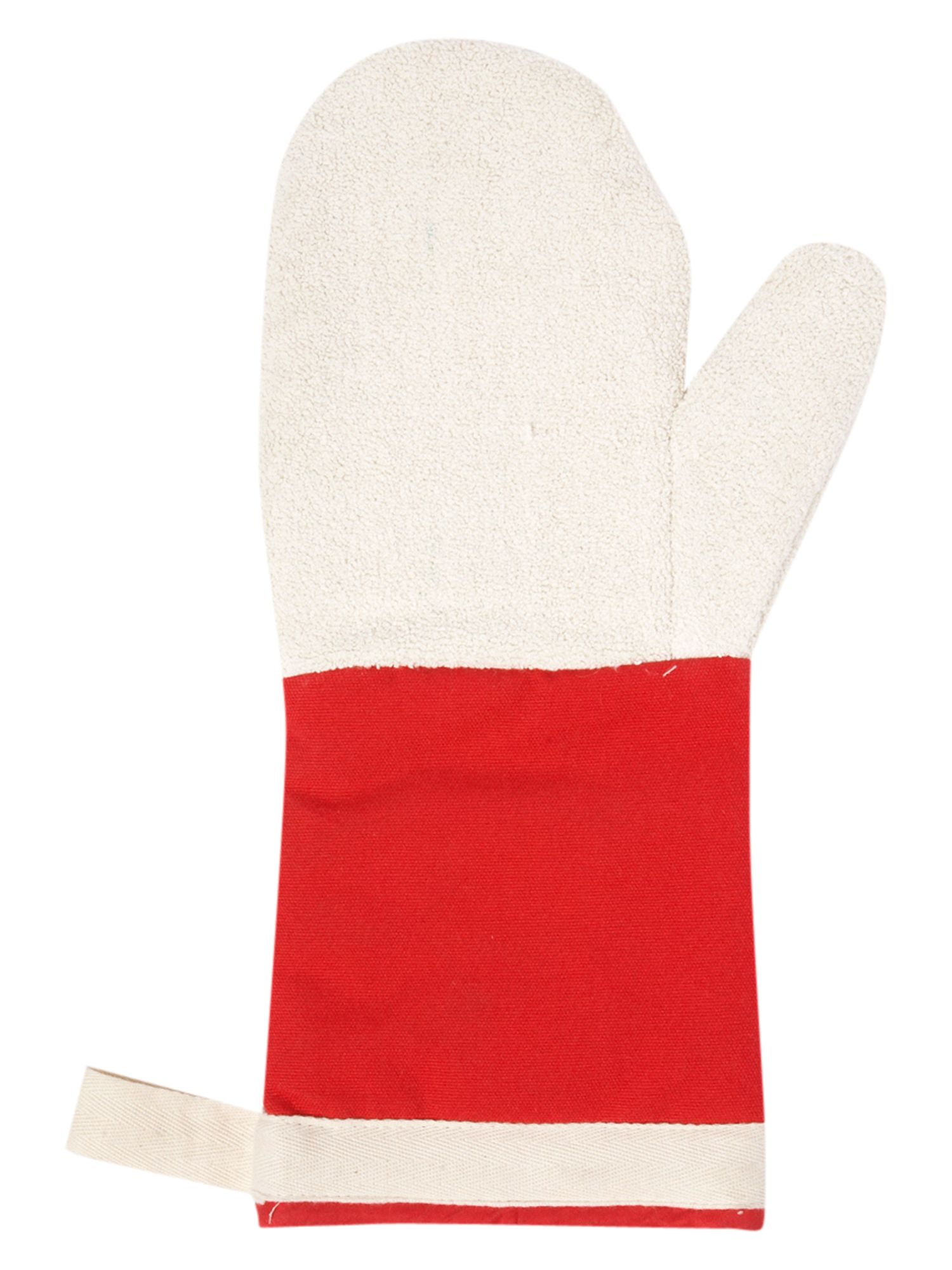 Image of Le Creuset 14 Oven Mitt Red
