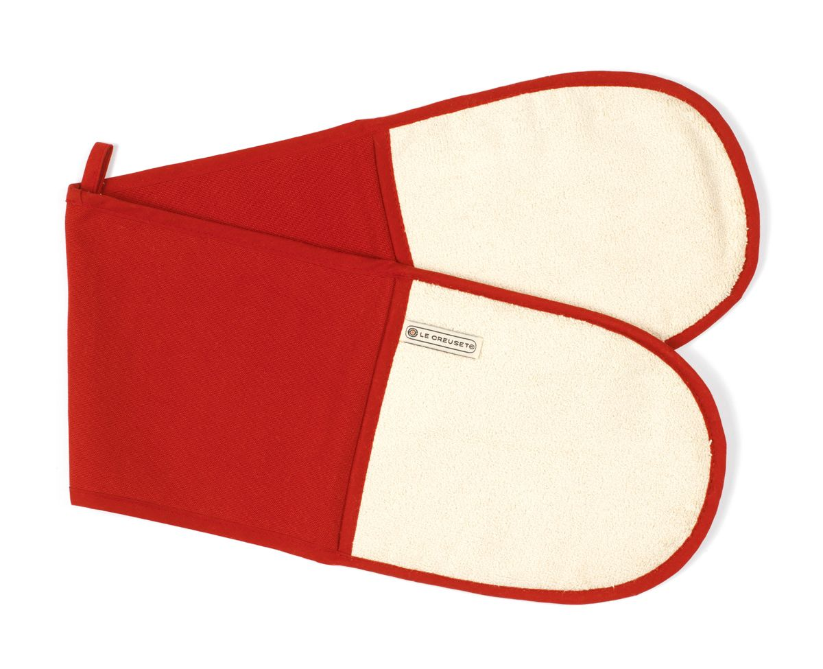 Red double oven glove