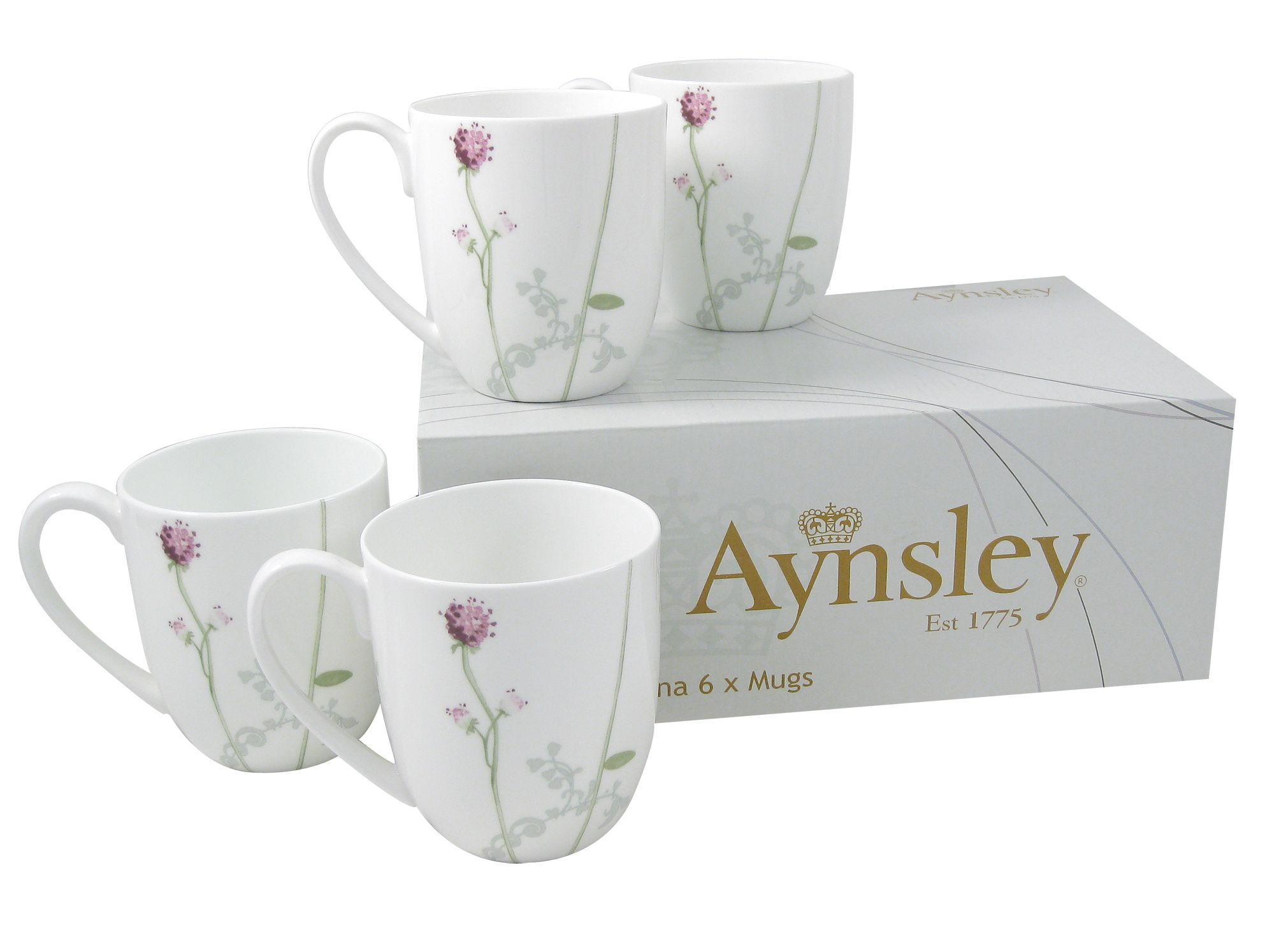 Camille 6 piece mugs set