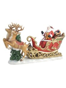Aynsley Santa with Reindeer ornament