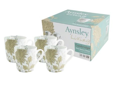 Aynsley Cambridge 4 piece mugs set