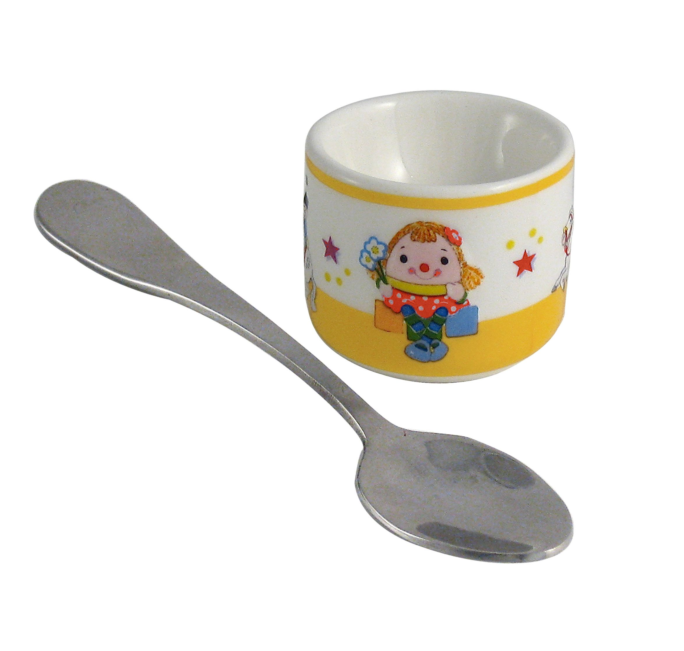 Aynsley Aynsley Miss Humpty eggcup and spoon