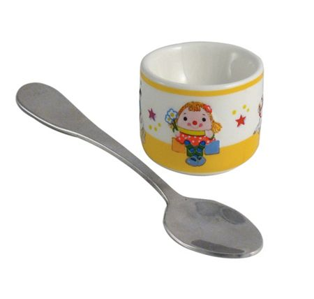Aynsley Miss Humpty eggcup and spoon
