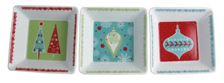 Aynsley Let it snow dish (set of 3)