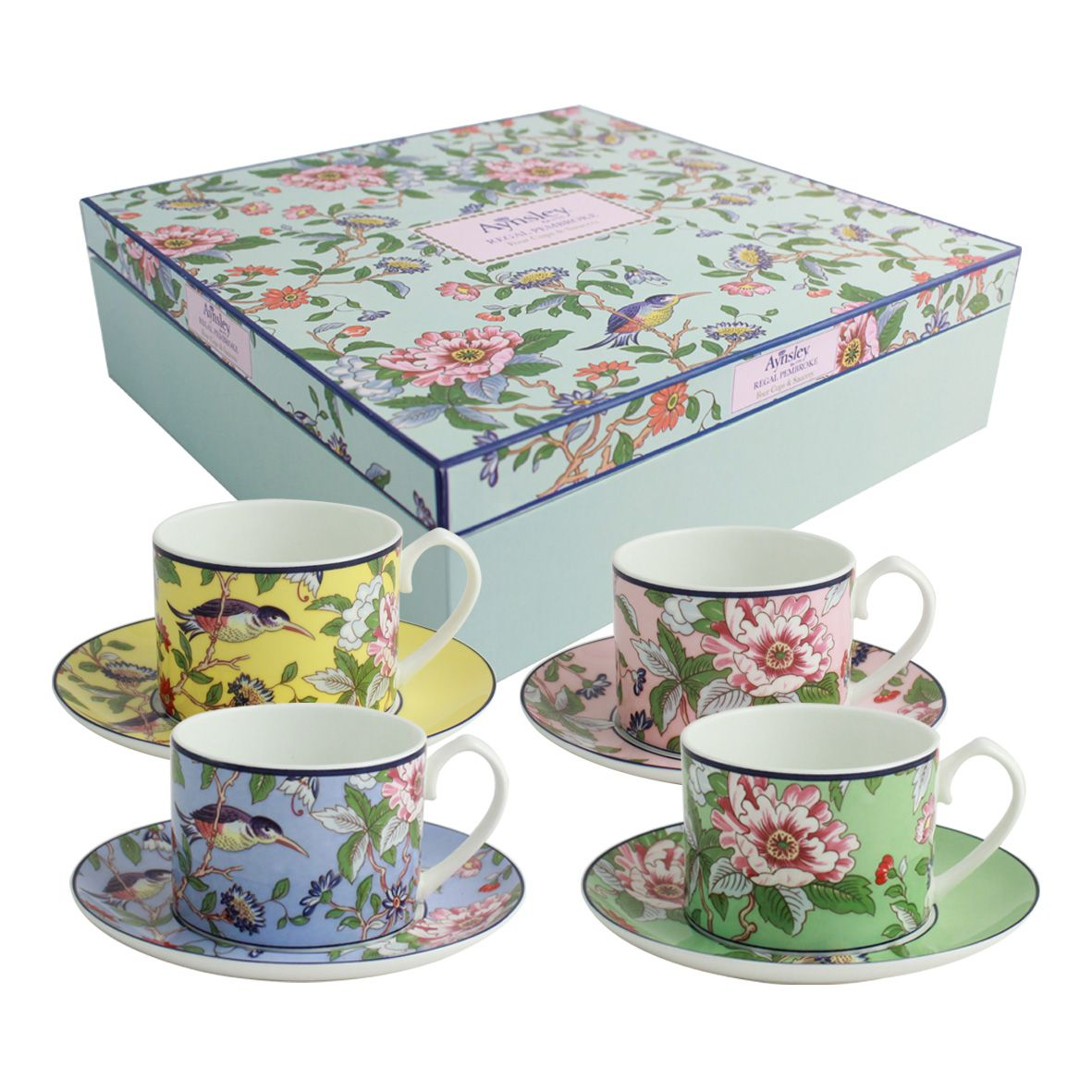 Aynsley Aynsley Pembroke 4 regal cups and saucers