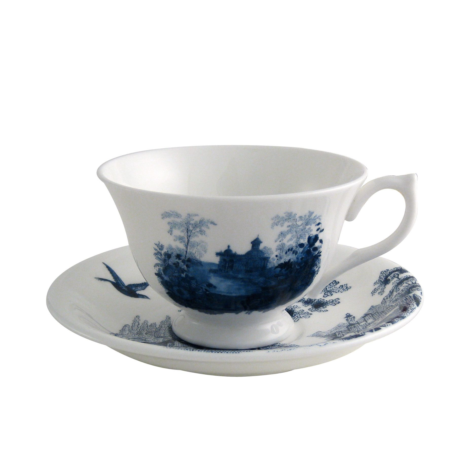 Archive Blue york teacup and saucer