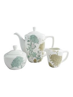 Cambridge teapot, sugar and cream set