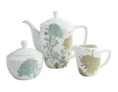 Aynsley Cambridge teapot , sugar and cream set