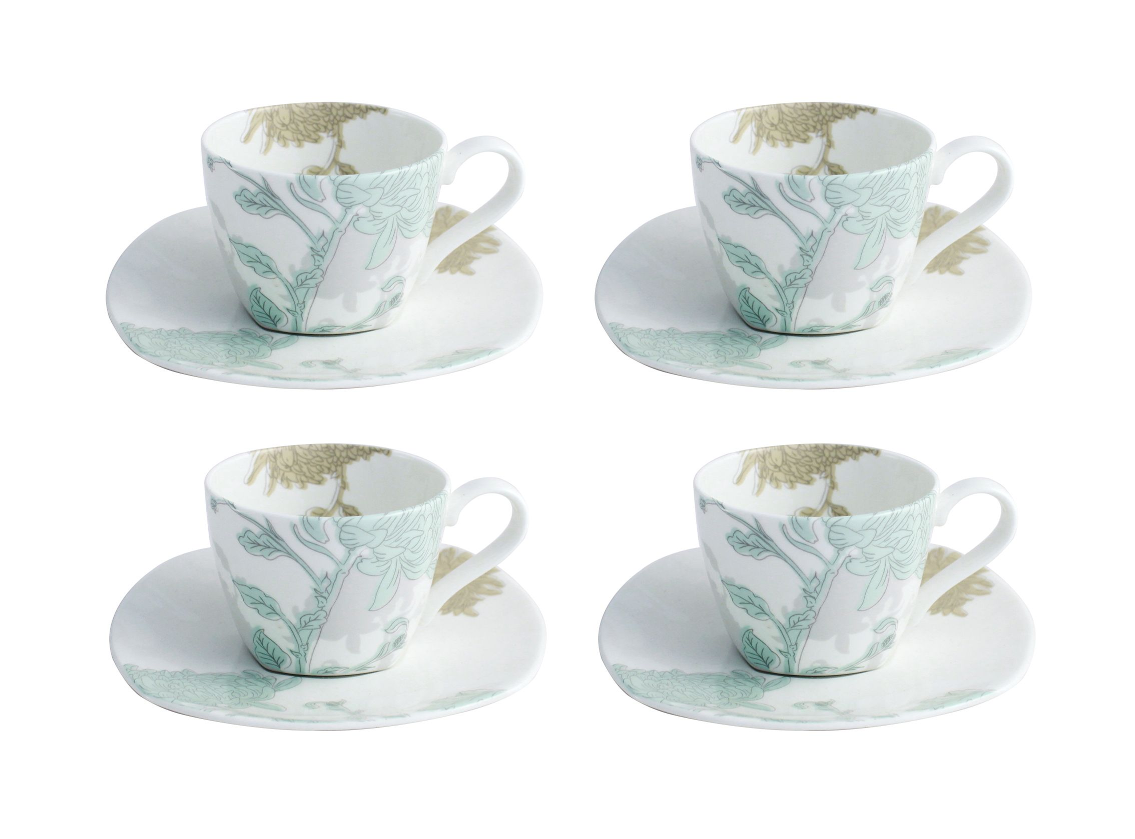 Aynsley Aynsley Cambridge teacups & saucer set of 4