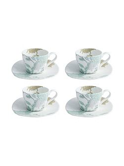 Cambridge teacups & saucer set of 4